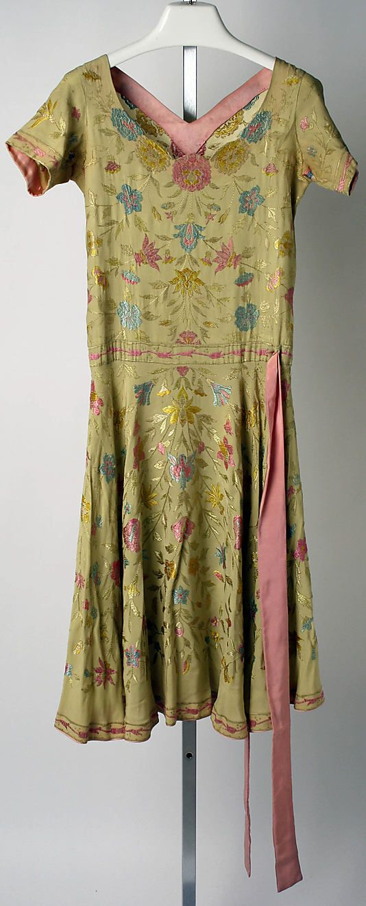 Dress, Afternoon. Callot Soeurs  (French, active 1895–1937). Date: ca. 1926. Culture: French. Medium: silk. Dimensions: Length: 48 1/4 in. (122.6 cm).