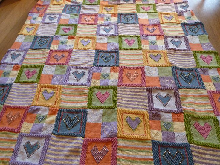 Knitting Pattern For Wedding Blanket : 194 best Knitting - blankets images on Pinterest Knitting blankets, Knittin...