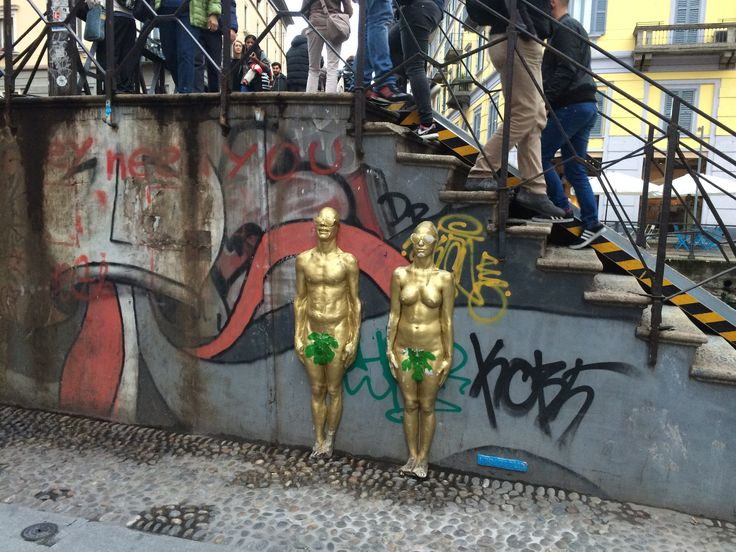 Adam en Eva in Milaan