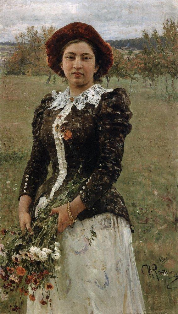 Autumn Bouquet. Portrait of Vera Repina. - Ilya Repin - WikiPaintings.org 1892