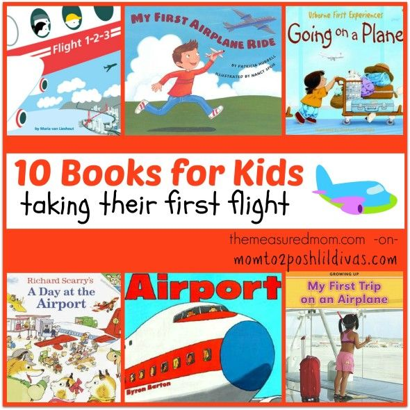 10 books for a child's first airplane flight