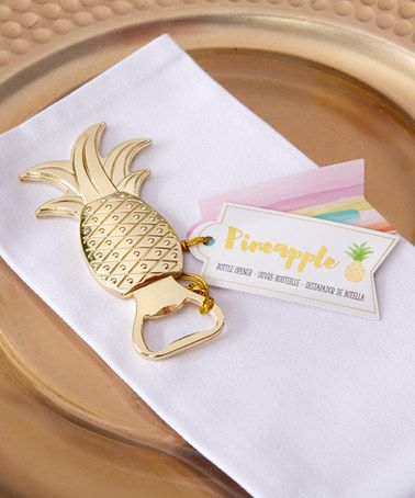 Loving this Gold Pineapple Bottle Opener - Set of 12 on #zulily! #zulilyfinds