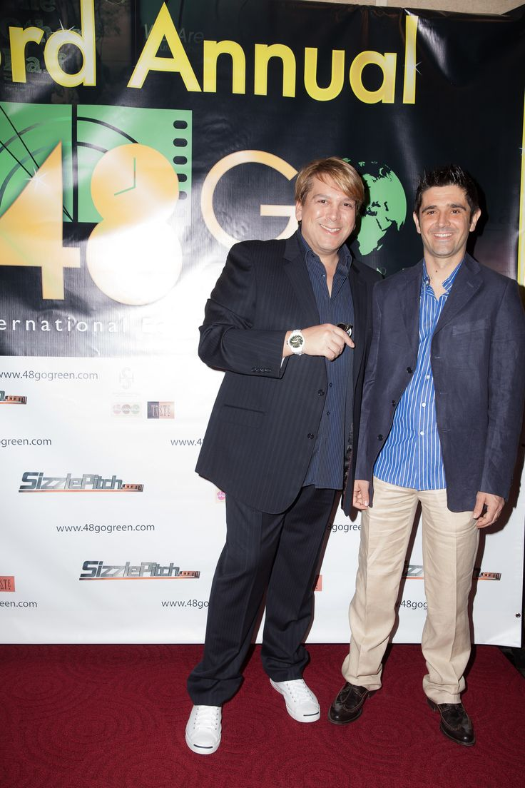 Francesco Vitali & Chrstos Siametis executive producers and founders of 48 Projects Inc. at the screening at the Academy of Motion Picture Arts and Sciences prestigious Samuel Goldwyn theatre  www.48filmproject.com