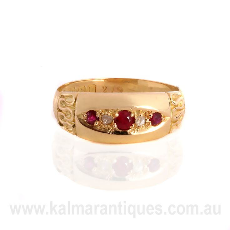 Kalmar Antiques This 1912 elegant antique ruby and diamond ring is yours for $1,650 | Kalmarantiques.com.au