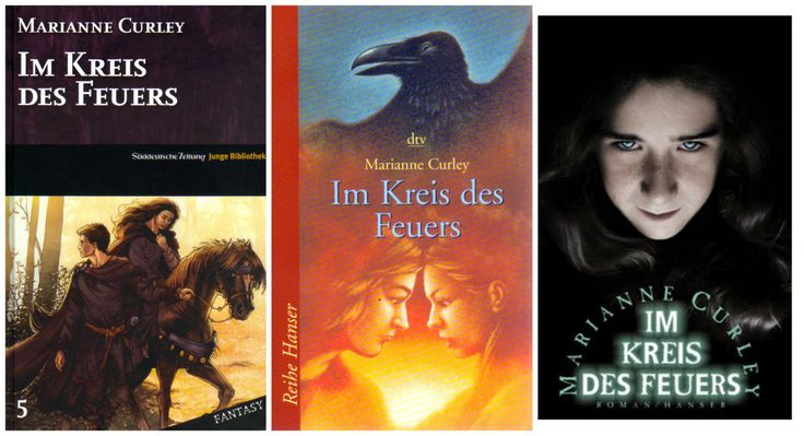 Three editions with different coveres of Old Magic in German