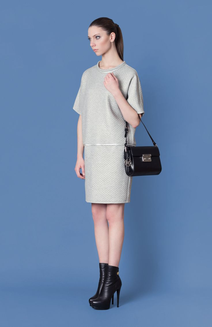 Cocoon Fall - Winter 2014-15 / Blu collection / Quilted Dress