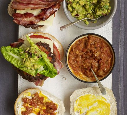John Torode's big burger: Not just any burger, John Torode's ultimate burger, with a spicy tomato relish and all the trimmings