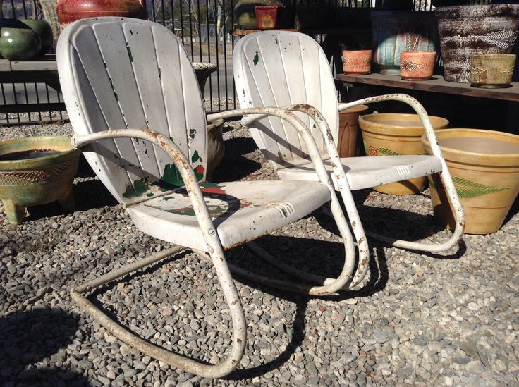 High Quality Vintage Metal Lawn Chairs... Check Em Out At Foothill Fountain 3040 E.