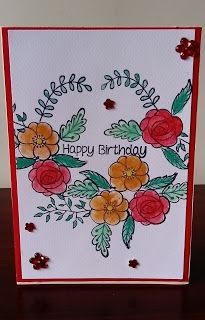 Flowery Birthday  #card #handmade #handmade card #watercolour card