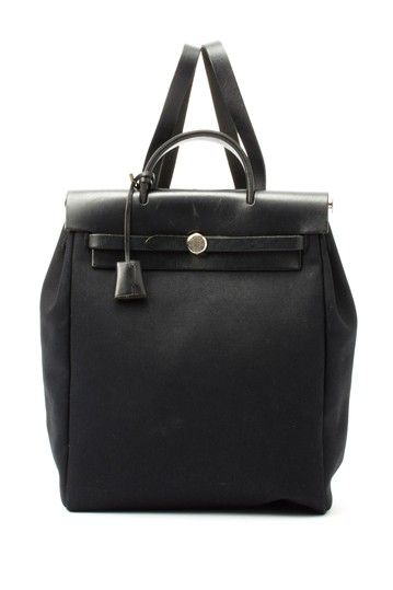 Vintage Hermes Cotton Herbag Backpack on HauteLook | Black ...