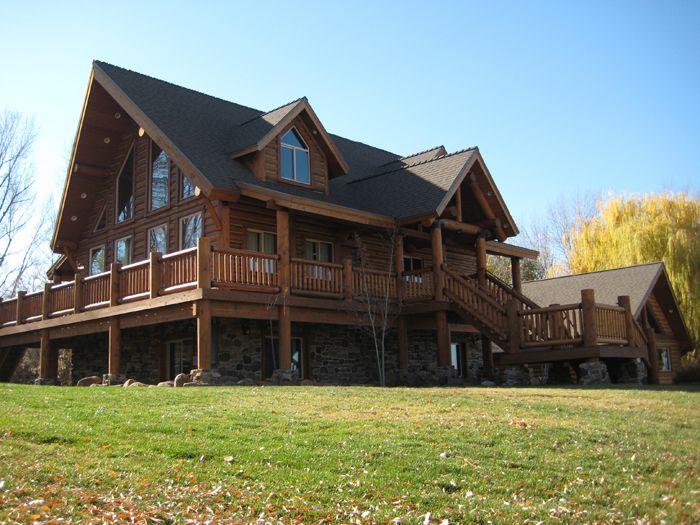 486 best dream home images on pinterest for Large log cabin kits