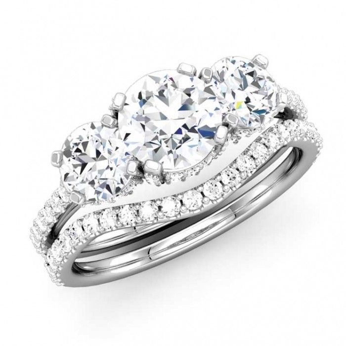 Perfect Three Stone Engagement Ring