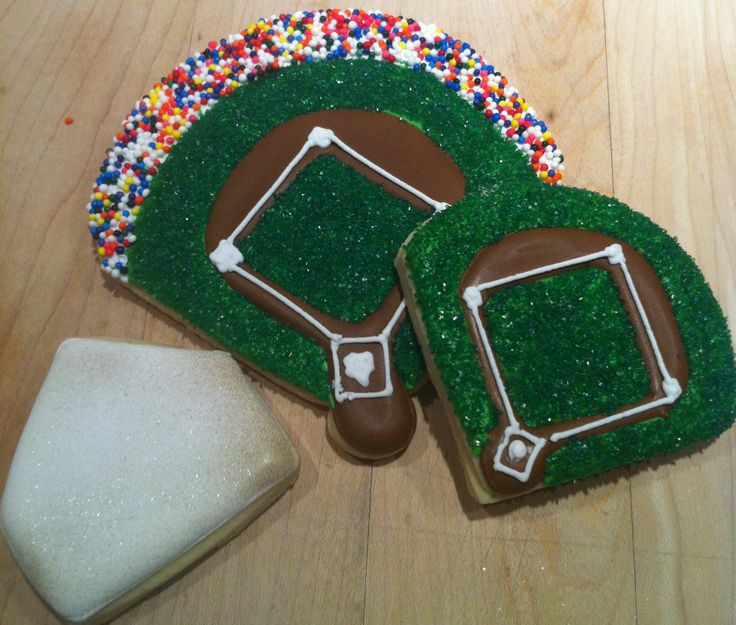 baseball field cookies by Willow Tree Cookies | Sports ...