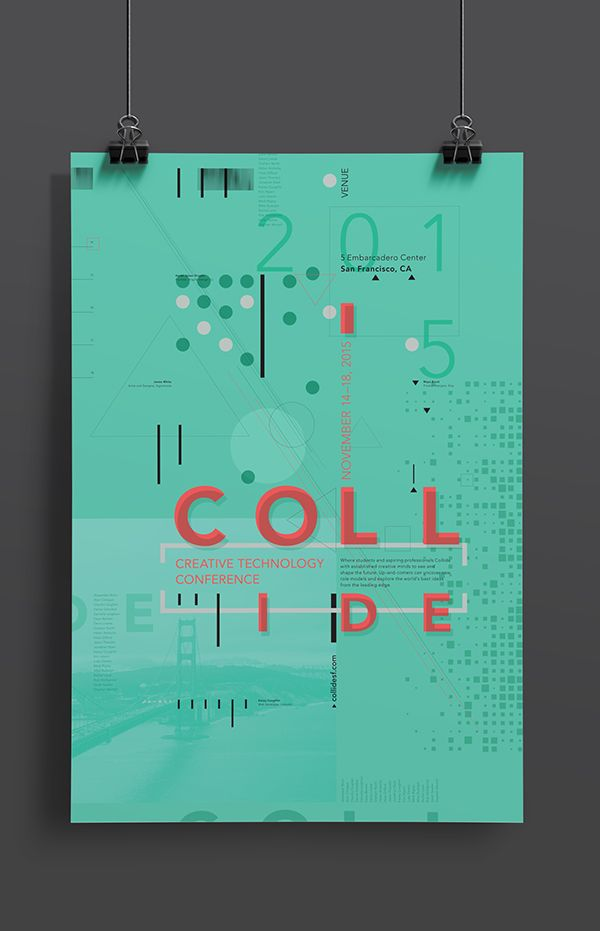 COLLIDE // Design Conference Materials on AIGA Member Gallery                                                                                                                                                                                 More