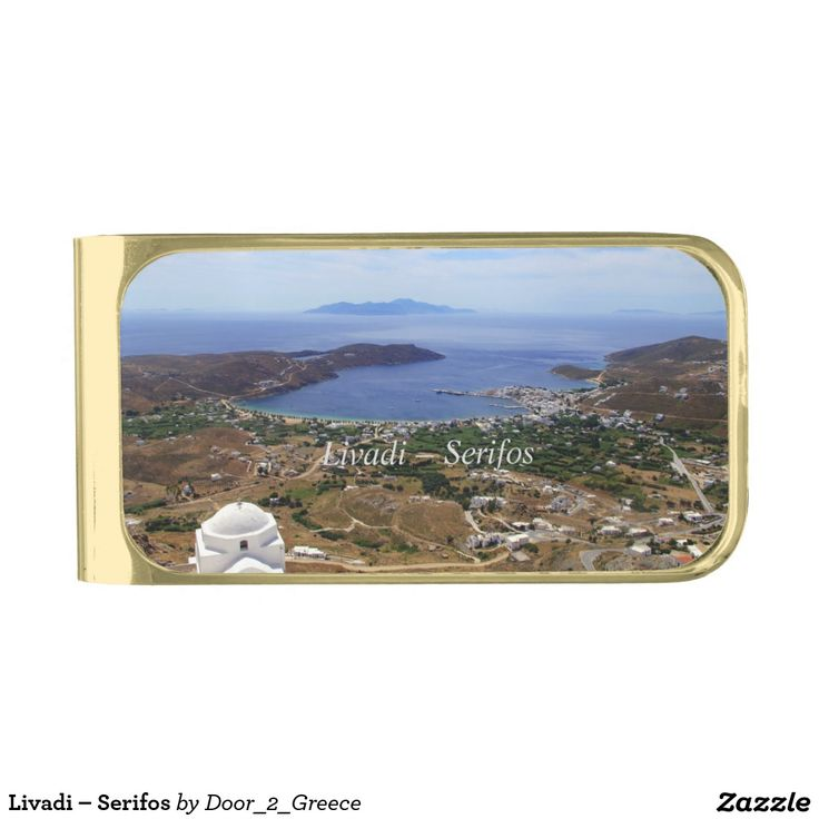 Livadi – Serifos Gold Finish Money Clip