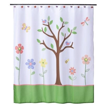 Butterfly Park Shower Curtain @Target $24.99 - Love it?  Would this work in a yellow bathroom?  I think it would. What about you?