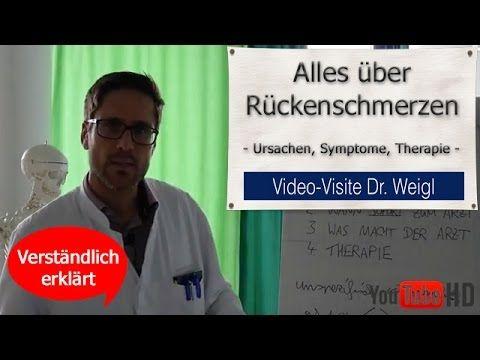 Rückenschmerzen  Ursachen Therapie (Übungen Elektrostimulation Operation) Arzt