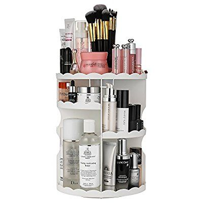 Amazon.com: Jerrybox 360-Degree Rotating Makeup Organizer, Adjustable Multi-Func…