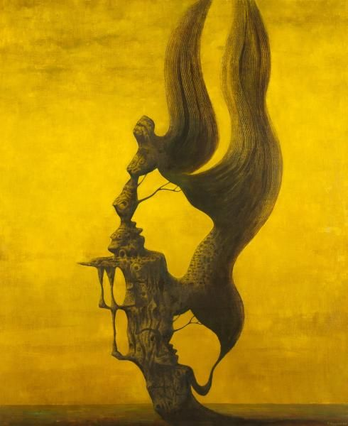 František Muzika - The storm in yellow (1979) #painting #Czechia #art #CzechArt #surrealist