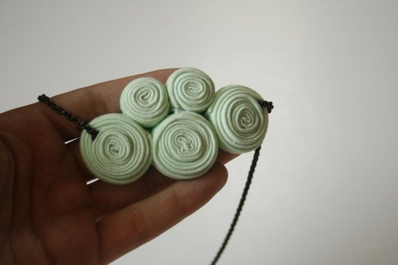 kuklos necklace / tea green by ganbayo on Etsy