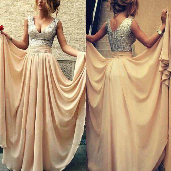Women's Sequenced Spliced Dress