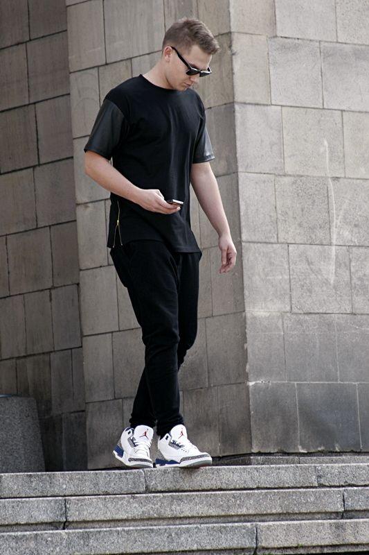 2e3faf7d7c21ed ... Leather + Air Jordan 3 True Blue on feet.  sneakers New Hip Hop Beats  ...