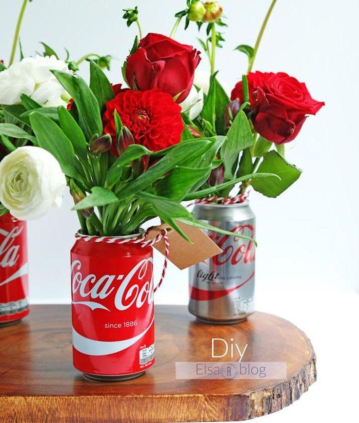 Sehe dir das Foto von ElsaR mit dem Titel Kreativ mit Dosen Coca-Cola (DIY Interior Design-Ideen) und andere inspirierende Bilder auf Spaaz.de an.