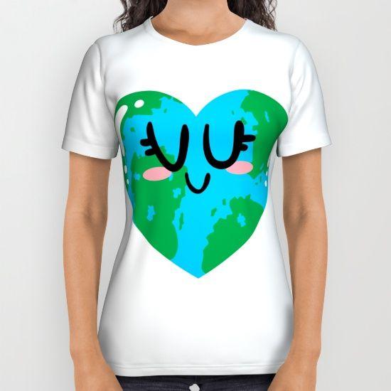 I Love Earth All Over Print Shirt
