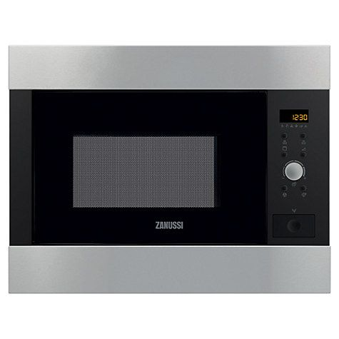 Buy Zanussi ZBG26542XA Built-in Microwave with Grill, Stainless Steel Online at johnlewis.com