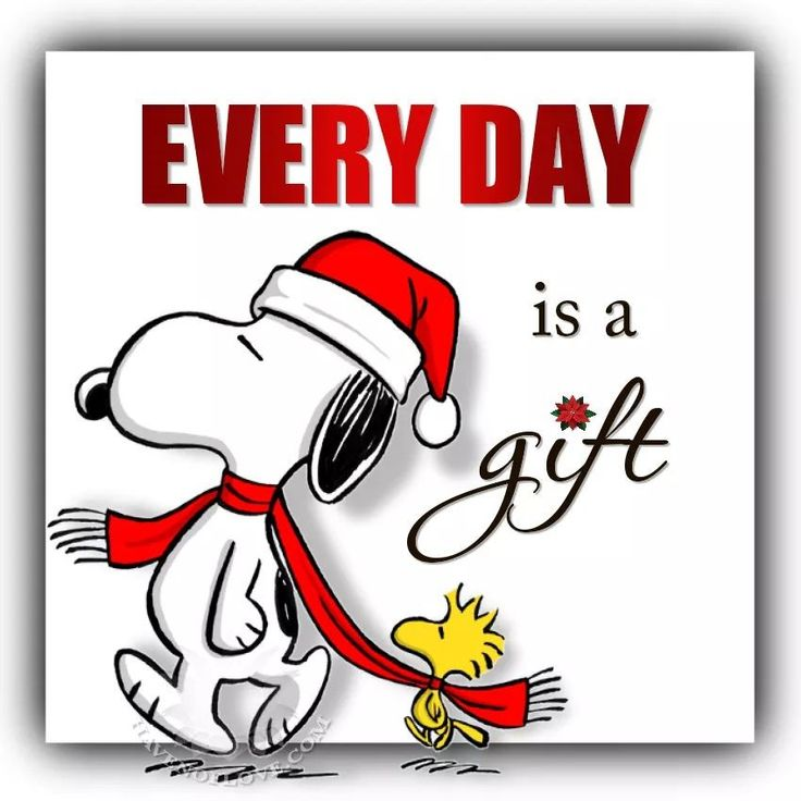 """That's why its called """"present"""" :) Snoopy Christmas"""