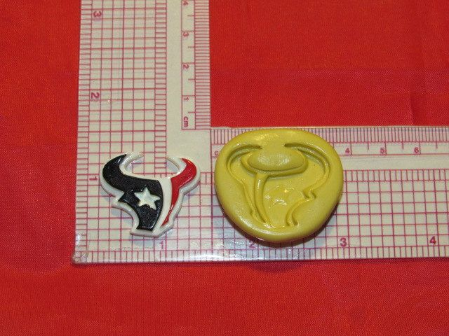 NFL Football Houston Texans Logo Silicone Push Mold 400 Chocolate Candy Cake Decorating by LobsterTailMolds on Etsy
