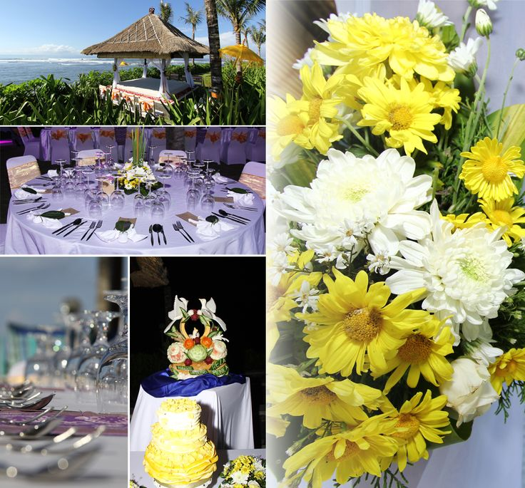The wedding setting