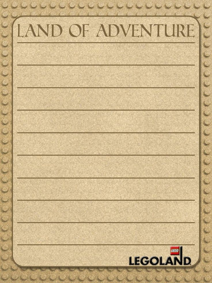 Journal Card - Legoland - Land of Adventure - rounded corners - lines - 3x4 photo pz_DIS_947a_Legoland_LandofAdventure_curvedborder_lines_3x4.jpg