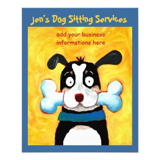 Jen's Dog Sitting Services flyer