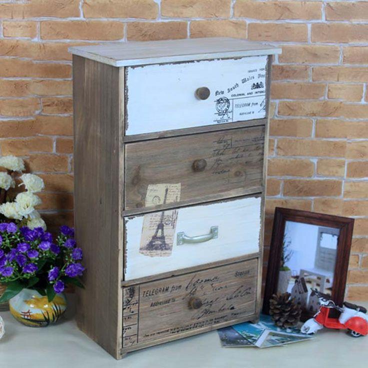 Zakka же старый ретро выдвижными ящиками шкафы для хранения креативный рабочий стол твердой древесины шкаф отделка коробки скидки