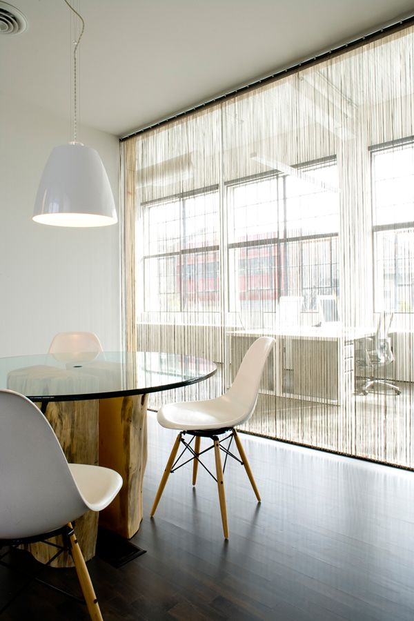 Meeting room, glass walls, eames chairs