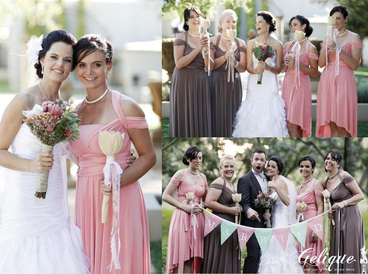 Gelique convertible bridesmaid dresses www.geliqueonline.com