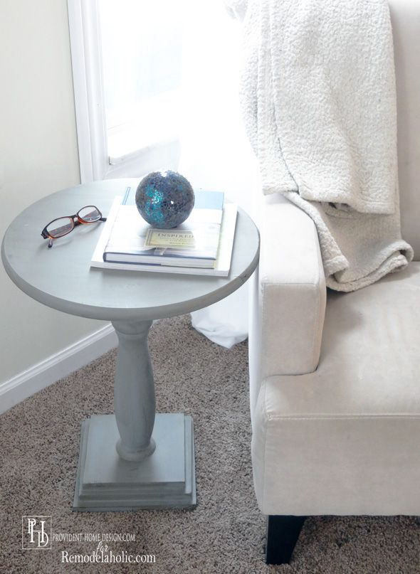 DIY Pedestal End Table