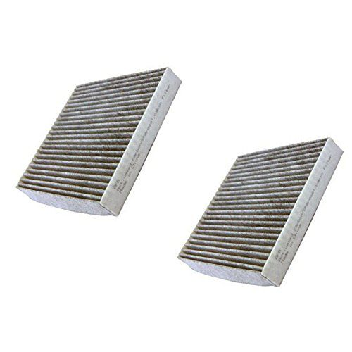 HQRP SET: 2PCS Activated Carbon / Charcoal Air Cabin Filters for FRAM CF10285 Fresh Breeze Cabin Air Filter Replacement plus HQRP UV Meter
