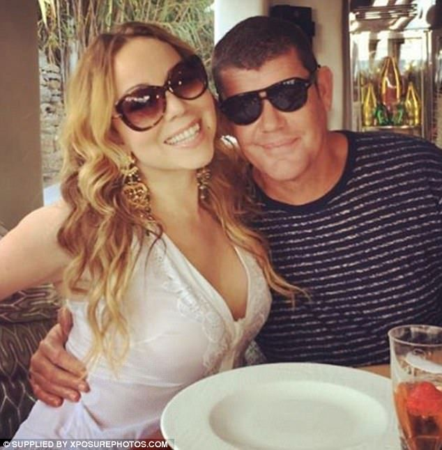 He paid out: Mariah Carey has reportedly reached a financial settlement worth millions with her former fiancé James Packer; here they are seen in September 2016