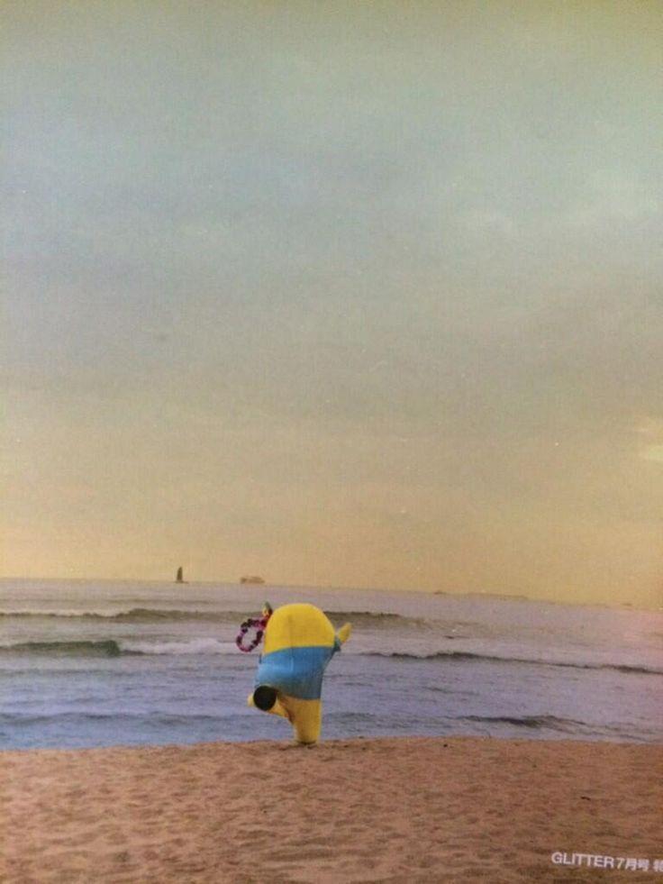海辺を走るふなっしー! Funassyi runs to the ocean...