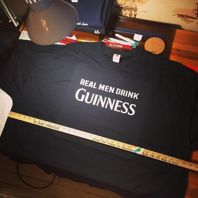 This is what a Mens 6XL looks like #awesome #guinness #customtshirt #MadeByGramps at #chubtown