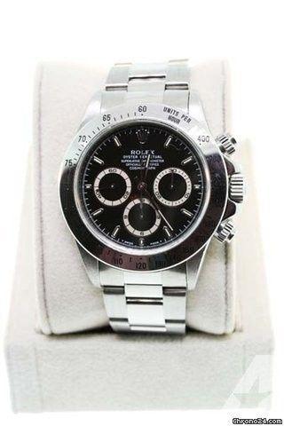 Rolex Daytona 16520 Stainless Steel Black Dial Watch