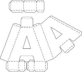Letras 3d (molde)corte Manual Nos Formatos Png, Pdf E Studio - R$ 4,39