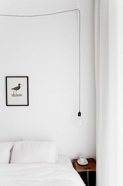 Fancy - Light on a wire bedroom