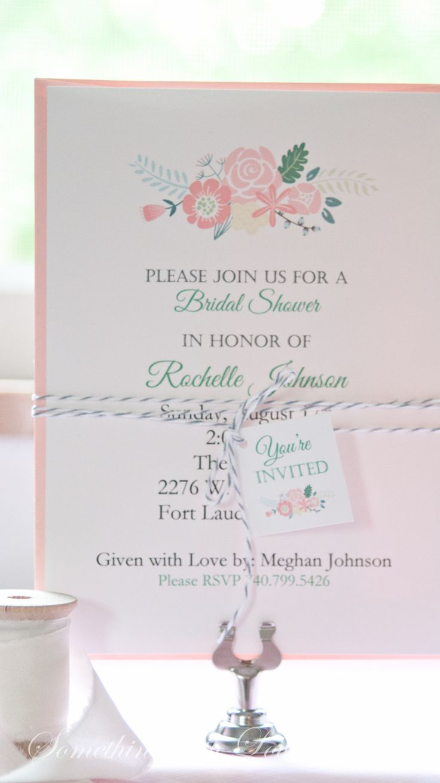blank beach bridal shower invitations%0A Bridal Shower Invitations Wedding  Wedding Shower  www somethingwithlove etsy com