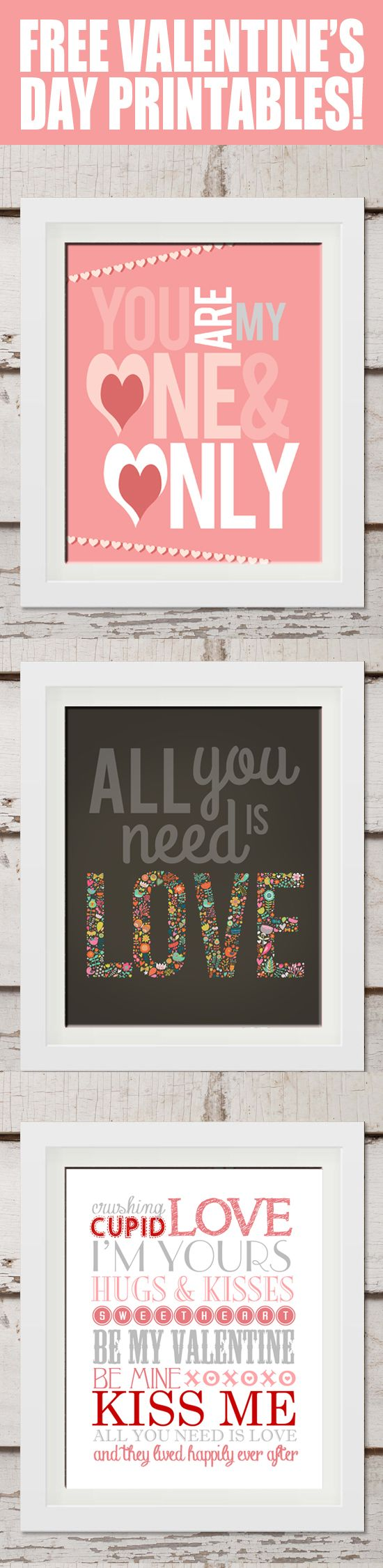 Free Valentines Day Printable Art from How to Nest for Less