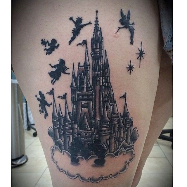cinderella 39 s castle tattoo tattooes pinterest disney beautiful und disney schloss tattoo. Black Bedroom Furniture Sets. Home Design Ideas