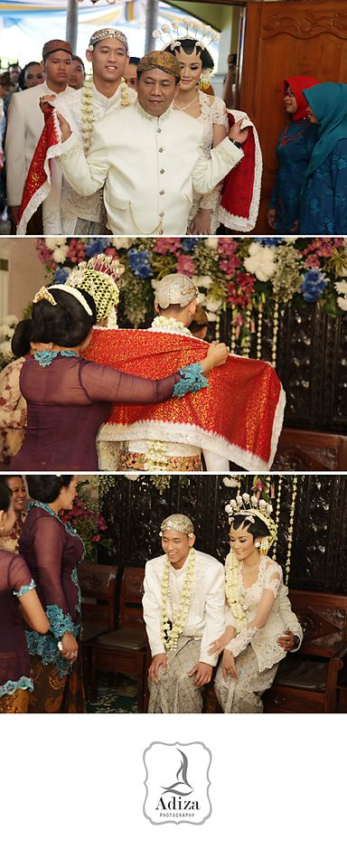 """Bride's father lead the bride inside the house followed by another families except groom's parents. the bride sit lap by bride's father.Bride's mother ask to Father """" which one heaviest?, Father answer they are same"""". it's mean they are family."""