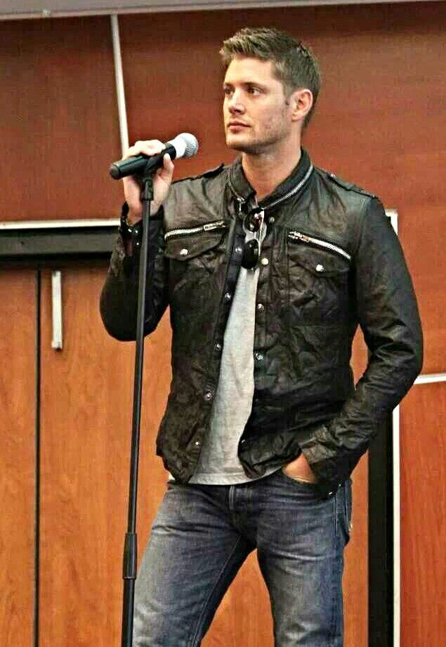 Jensen Ackles - love the leather jacket! | Eye Candy | Pinterest